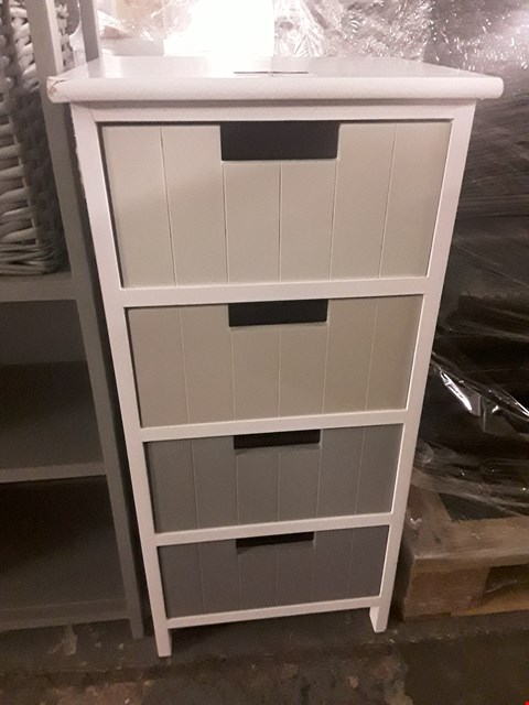 Lot 45 DESIGNER WITE/ GREY 4 DRAWER BATHROOM CHEST