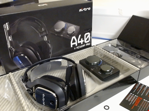 Lot 15308 ASTRO GAMING A40 TR WIRED GAMING HEADSET + MIXAMP PRO GEN 4 FOR PS4 & PC