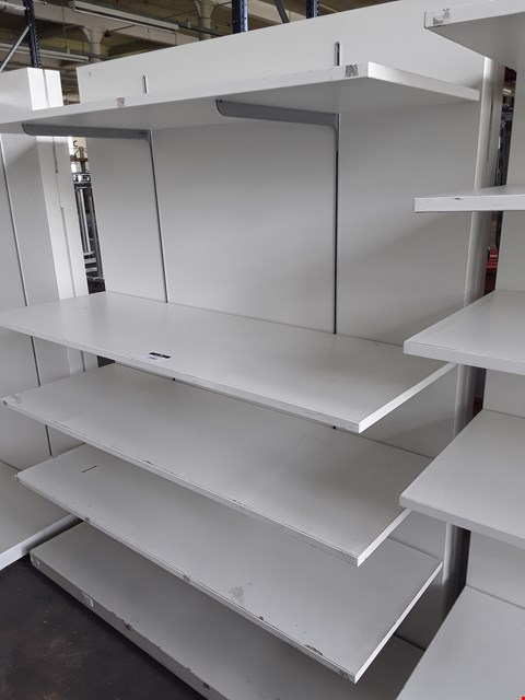 Lot 2082 WHITE ADJUSTABLE SHELVING UNIT WITH 4 SHELVES