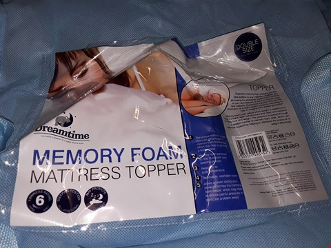 Lot 8047 UNBAGGED DREAMTIME MEMORY FOAM MATTRESS TOPPER - DOUBLE