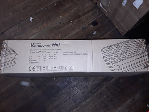 Lot 412 BOXED VIBRAPOWER HIIT WITH BLUETOOTH AND 2 SET