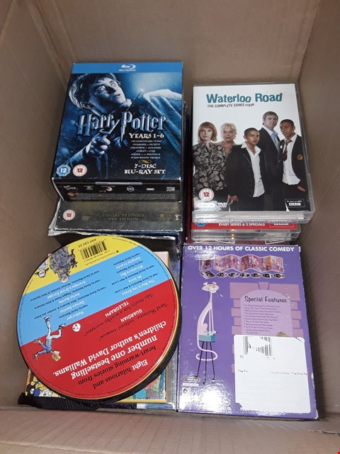 Lot 12002 APPROXIMATELY 30 DVDS BOX SETS AND DVDS & CDS, TO INCLUDE,  JUNGLE BOOK ,BLACK ADDED, SIMPSONS 100 HITS SIXTIER