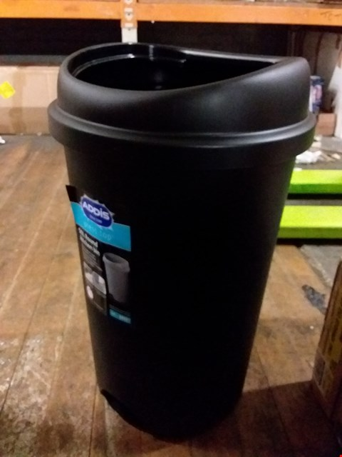 Lot 1517 PLASTIC 50LTR ROUND TOUCH TOP BIN RRP £30