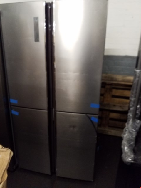 Lot 8502 HISENSE RQ689N4AC1 91CM WIDE FROST-FREE AMERICAN STYLE MULTI-DOOR FRIDGE FREEZER - STAINLESS STEEL LOOK RRP £1000.00