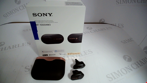 Lot 17321 SONY WF-1000XM3 TRULY WIRELESS NOISE CANCELLING HEADPHONES, UP TO 32H BATTERY LIFE, STABLE BLUETOOTH CONNECTION, WEARING DETECTION