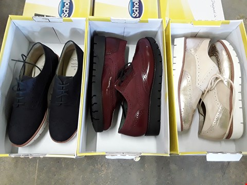 Lot 4045 3 BOXED SCHOLL VIRGINIA SUMMER & WINE BROGUES - SIZES 4, 5, 6