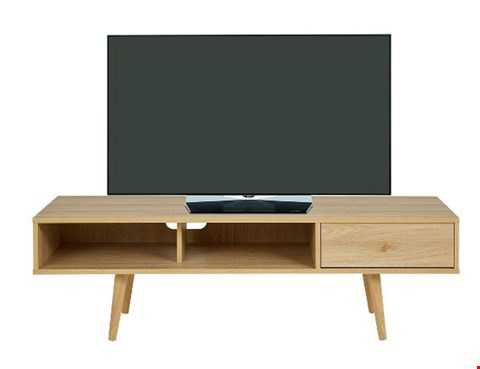 Lot 7029 BOXED GRADE 1 MONTY OAK RETRO TV UNIT  RRP £199.00