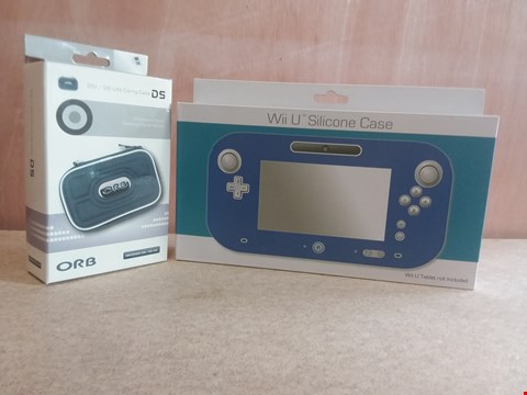 Lot 651 A BOX OF APPROXIMATELY 16 BRAND NEW ITEMS TO INCLUDE A DSI/DS LITE CARRY CASE AND A WII U SILICONE CASE