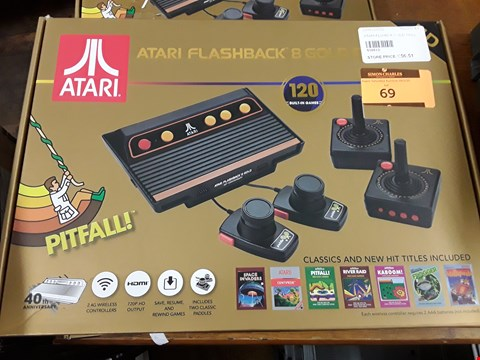 Lot 69 BOXED ATARI FLASHBACK 8 GOLD DELUXE GAMES CONSOLE WITH 120 BUILT IN GAMES