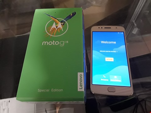 Lot 27 BOXED MOTO G5S SPECIAL EDITION MOBILE PHONE  RRP £279