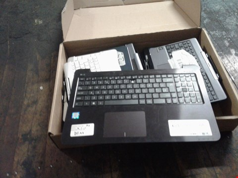 Lot 1482 A BOX OF APPROXIMATELY 12 ASSORTED KEYBOARD PARTS