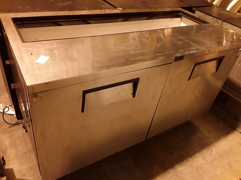 Lot 3057 TRUE COMMERCIAL COUNTER FRIDGE WITH TOP ACCESS (MISSING TOP COVER)