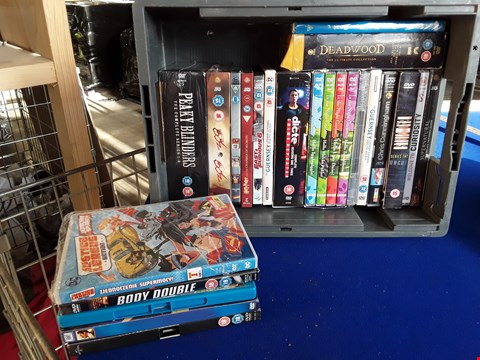 Lot 7691 BOX OF APPROXIMATELY 20 ASSORTED DVD'S TO INCLUDE PEAKY BLINDERS, HARRY POTTER, SUPERNATURAL ETC