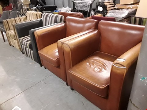 Lot 10071 FOUR ASSORTED ARMCHAIRS