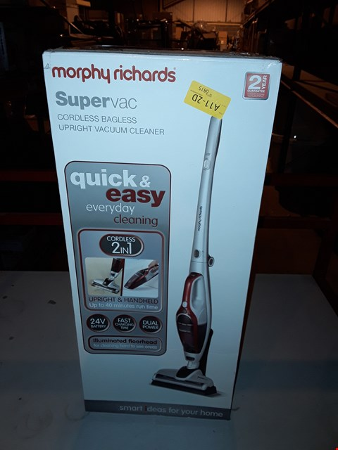 Lot 1966 MORPHY RICHARDS SUPERVAC CORDLESS BAGLESS UPRIGHT VACUUM CLEANER