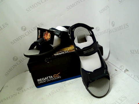 Lot 83 BOXED PAIR OF DESIGNER REGATTA KOTA DRIFT SANDALS - UK SIZE 11