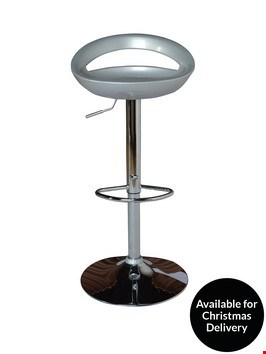 Lot 243 AVANTI BAR STOOL SILVER 1 BOX RRP £139.00