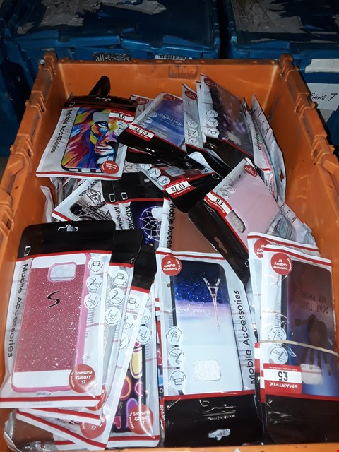 Lot 1624 BOX OF ASSORTED BRAND NEW SAMSUNG S7 CASES