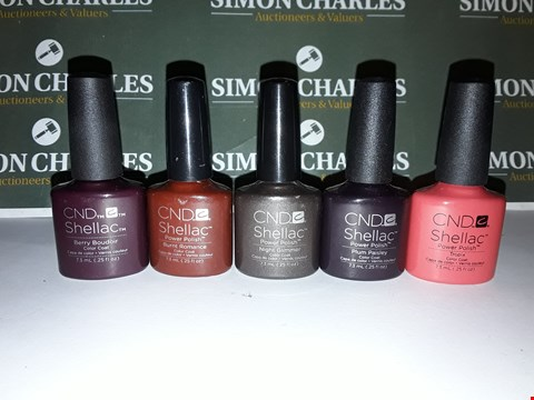 Lot 10 LOT OF 5 ASSORTED CND SHELLAC