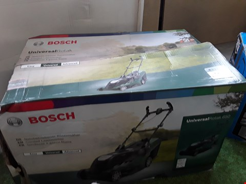 Lot 54 BOXED BOSCH UNIVERSAL ROTAK 650 CORDED LAWNMOWER  RRP £150.00