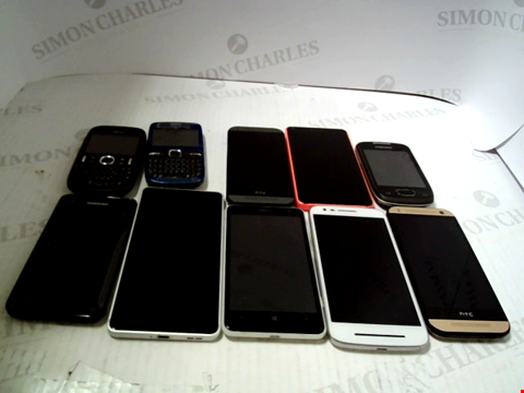 Lot 5292 LOT OF 10 ASSORTED MOBILE PHONES AND SMARTPHONES ETC