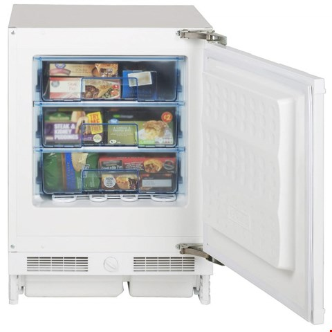 Lot 8593 BRAND NEW BOXED NEW WORLD NWFZ600 INTEGRATED UNDER COUNTER FREEZER