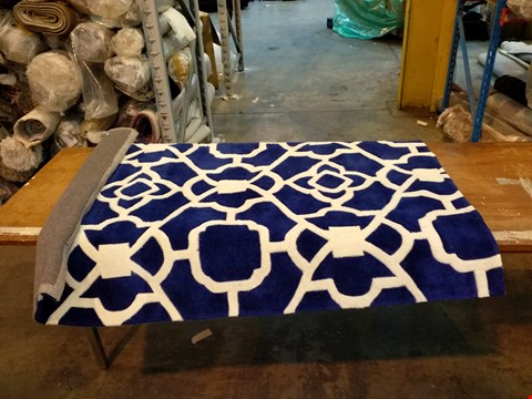 Lot 3055 DESIGNER ORIGIN MARRAKESH BLUE RUG 120X170CM