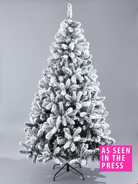Lot 2462 BRAND NEW BOXED 6FT FLOCKED EMPEROR TREE RRP £100.00