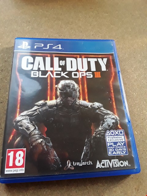 Lot 7668 CALL OF DUTY BLACK OPS III PLAYSTATION 4 GAME