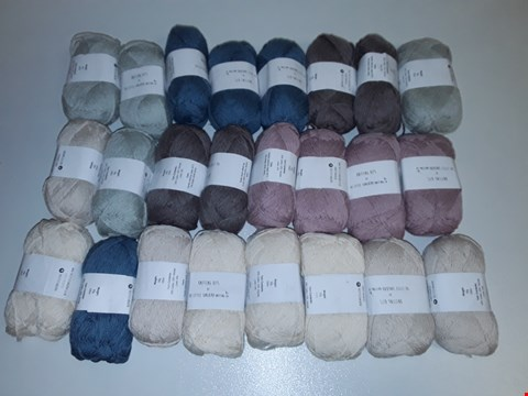 Lot 6480 LOT OF APPROXIMATELY 24 50G 150M KNITTING YARN IN VARIOUS COLOURS