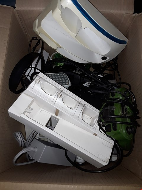 Lot 11118 BOX OF ASSORTED CONSOLE CONTROLLERS & ACCESSORIES