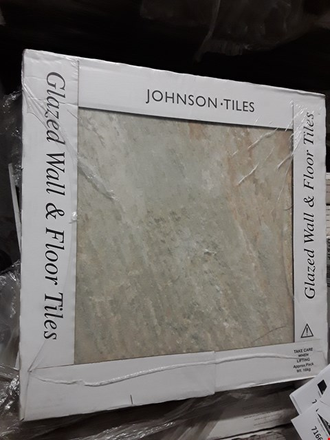 Lot 7114 PALLET OF 33 BOXES OF BRAND NEW IMITATION OYSTER GLAZED TILES 430X430