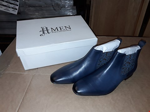 Lot 27 BOXED H MEN FOOTWARE NAVY BLUE SIZE 10UK/44EUR SMART SHOES