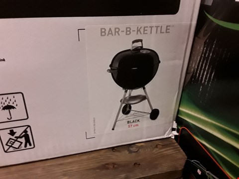 Lot 7289 BOXED WEBER BAR-B-KETTLE CHARCOAL GRILL