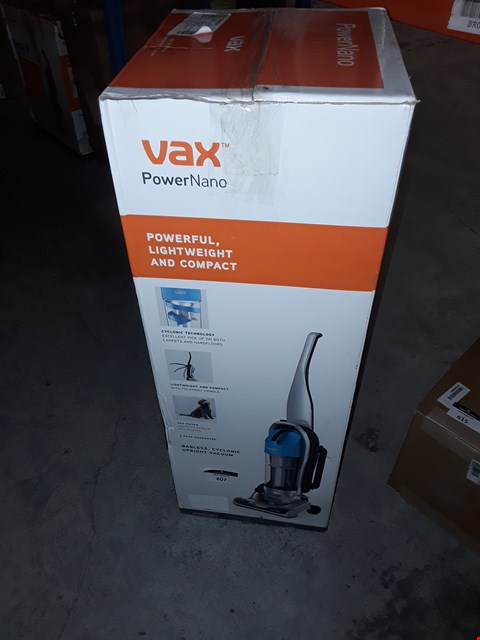 Lot 607 VAX UCNBAWP1 POWER NANO BAGLESS UPRIGHT VACUUM CLEANER