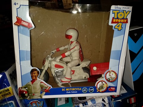 Lot 2401 TOY STORY 4 DUKE CABOOM MOTORCYCLE TOY RRP £34.99