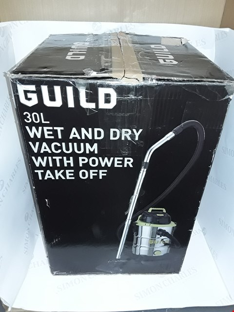 Lot 33 BOXED GUILD 30L WET & DRY VACUUM WITH POWER TAKE OFF