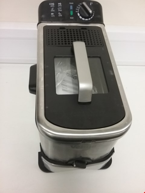 Lot 3107 VENGA! DEEP FAT FRYER WITH INNOVATIVE OIL FILTER FUNCTION, 3 LITRES, 2 000 W, STAINLESS STEEL/BLACK, VG FT 3012 BS
