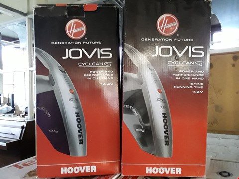 Lot 2 LOT OF 2 ASSORTED HOOVER HAND VACUUM PRODUCTS TO INCLUDE JOVIS CYCLEAN 14.4V & JOVIS CYCLEAN 7.2V