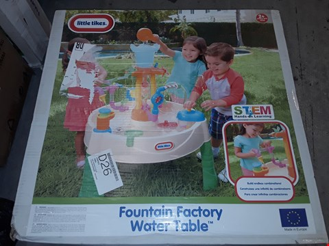Lot 230 GRADE 1 LITTLE TIKES FOUNTAIN FACTORY WATER TABLE RRP £83