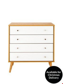 Lot 219 2 ITEMS INCLUDING MALMO 4 DRAWER CHEST OAKWHITE,