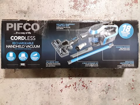 Lot 305 PIFCO HANDHELD CORDLESS HOOVER