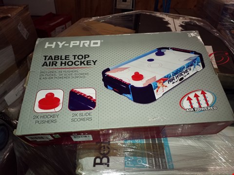 Lot 465 LOT OF 3 GRADE 1 TABLE TOP GAMES TO INCLUDE AIR HOCKEY AND 2X TABLE TOP FOOTBALL RRP £75.00