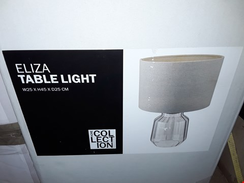 Lot 385 BOXED HOME COLLECTION ELIZA TABLE LIGHT