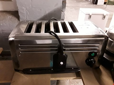 Lot 62 BURCO TSSL16CHR STAINLESS STEEL 6-SLOT COMMERCIAL TOASTER