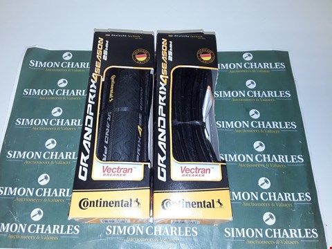 Lot 4008 LOT OF 2 CONTINENTAL GRAND PRIX ALL SEASON 25MM BICYCLE TYRES