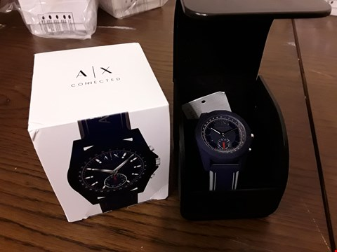 Lot 301 BOXED ARMANI EXCHANGE CONNECTED BLUE WRIST WATCH
