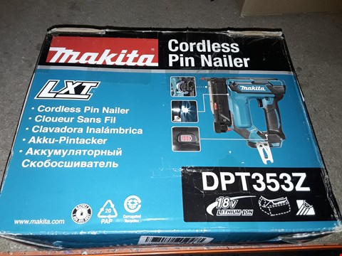Lot 699 MAKITA DPT353Z PIN NAILER, 18 V, BLUE