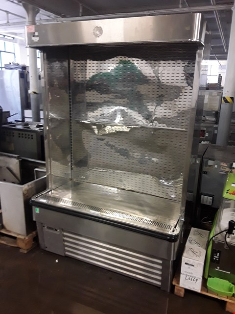 Lot 13527 COMMERCIAL STAINLESS STEEL FRAMEC REFRIGERATED DISPLAY CABINET
