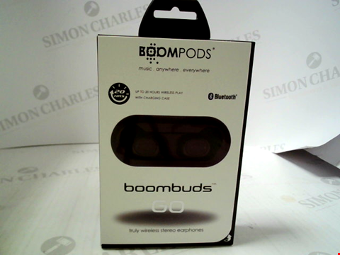 Lot 381 BRAND NEW BOOMPODS BOOMBUDS GO TRULY WIRELESS STEREO EARPHONES